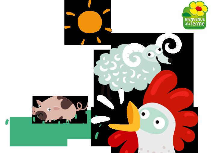 Illustration de la visite à la ferme
